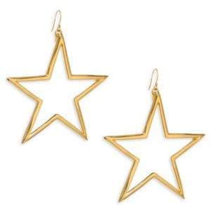 Kenneth Jay Lane Open Star Drop Earrings