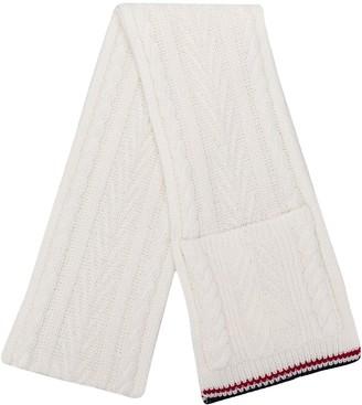 Thom Browne ホワイトケーブル ポケットスカーフ