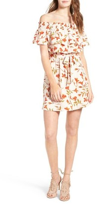 Women's Lovers + Friends Suntime Off The Shoulder Minidress $168 thestylecure.com