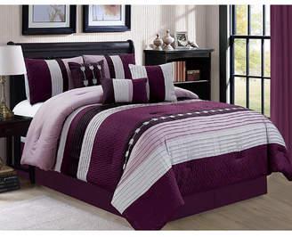 Luxlen Broadwell 7 Piece Comforter Set, King Bedding