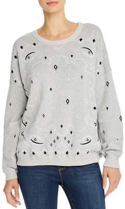 Minnie Rose Bandana Jacquard Sweater