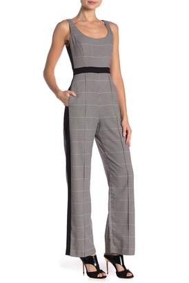 Donna Morgan Sleeveless Menswear Inspired Jumpsuit