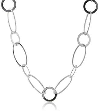 Kenneth Cole New York Shiny Metals Circle and Oval Link Long Necklace