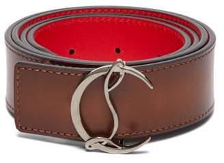 Christian Louboutin Logo Leather Belt - Mens - Brown