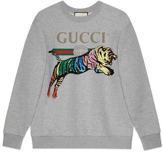 Gucci Oversize sweatshirt with tiger