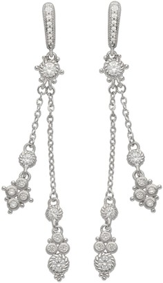 Judith Ripka Sterling Diamonique Dangle Drop Earrings