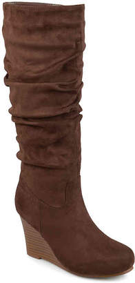 Journee Collection Haze Wide Calf Wedge Boot - Women's