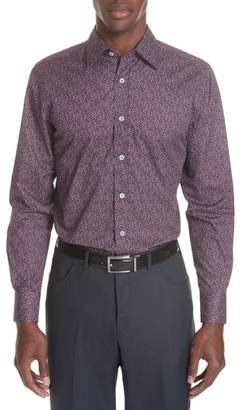 Canali Classic Fit Floral Dress Shirt