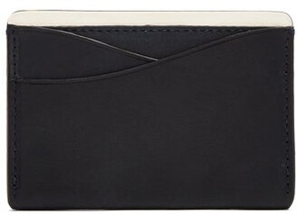 Lee Passavant And Leather And Sterling Silver Cardholder - Mens - Navy Multi