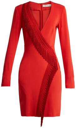 GALVAN Tunqui fringed jersey mini dress