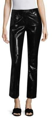 Helmut Lang Crop Leather Flare Pants