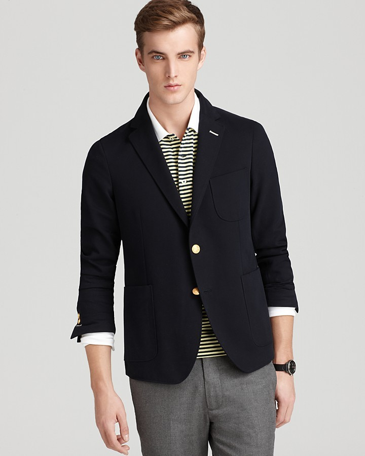 Gant Navy Drill Slim Cut Blazer