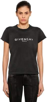 Givenchy (ジバンシイ) - GIVENCHY ヴィンテージロゴプリント ジャージーTシャツ