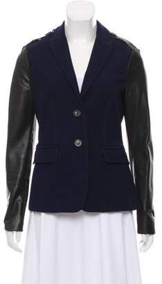 Burberry Leather-Accented Casual Jacket