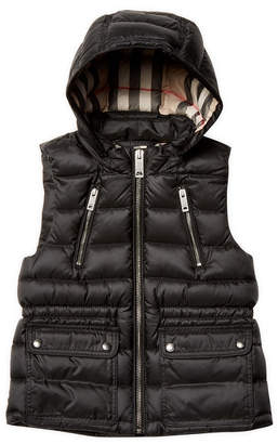 Burberry Hooded Quilted Vest