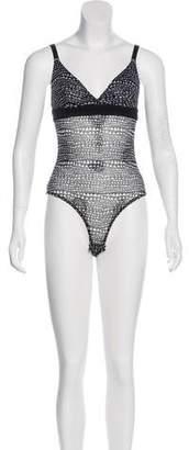 Stella McCartney Florence Fluttering Mesh Bodysuit w/ Tags