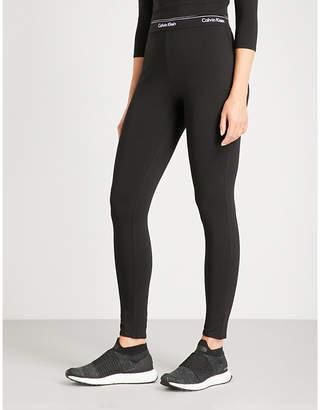 Calvin Klein Logo-detail stretch-cotton leggings