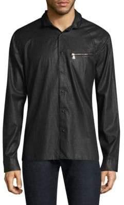 John Varvatos Slim-Fit Snap-Button Shirt