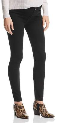 7 For All Mankind Maternity Ankle Skinny Jeans in B(air) Black