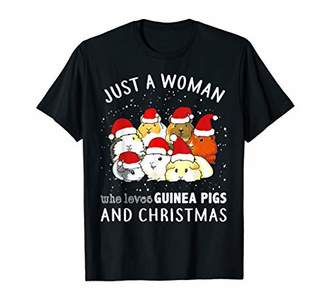 Just A Woman Who Loves Guinea Pigs And Christmas T-Shirt