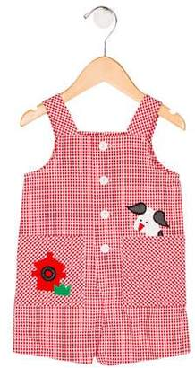 Florence Eiseman Girls' Gingham Overalls w/ Tags