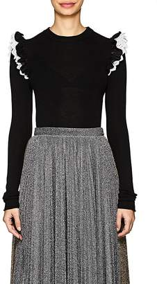 Philosophy di Lorenzo Serafini Women's Wool Frilled-Shoulder Sweater