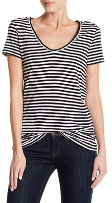 Susina Stripe Scoop Neck Tee (Regular and Petite)