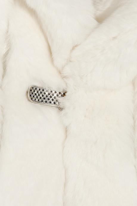 Matthew Williamson Cropped rabbit shrug