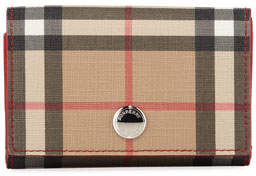 Burberry Lark Mini Vintage Check Canvas Wallet