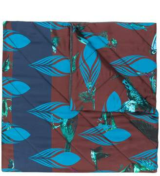 Odeeh print quilted scarf