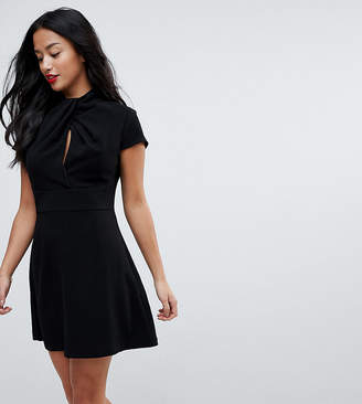 Asos Twist Front Mini A Line Dress