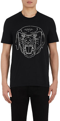 Givenchy Men's Stenciled-Rottweiler Cotton T-Shirt $550 thestylecure.com