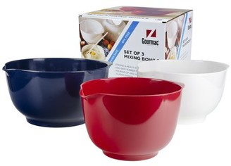 Hutzler Red, White, & Blue Melamine Mixing Bowls, 3-Pc. Set