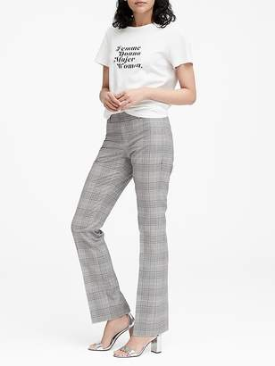 Banana Republic Petite Logan Trouser-Fit Washable Plaid Pant