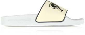 McQ White Swallow Slide Sandals