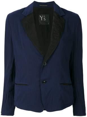 Y's contrasting lapel blazer