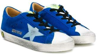 Golden Goose Kids star detail lace-up sneakers