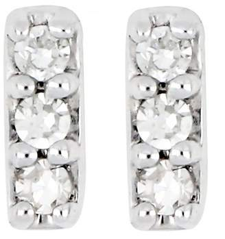 Carriere Sterling Silver Diamond Petite Bar Earrings - 0.05 ctw