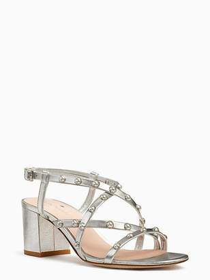 94cdb707cd95 Kate Spade Silver Leather Women s Sandals - ShopStyle