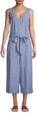 BeachLunchLounge Stripe Linen Cotton Jumpsuit