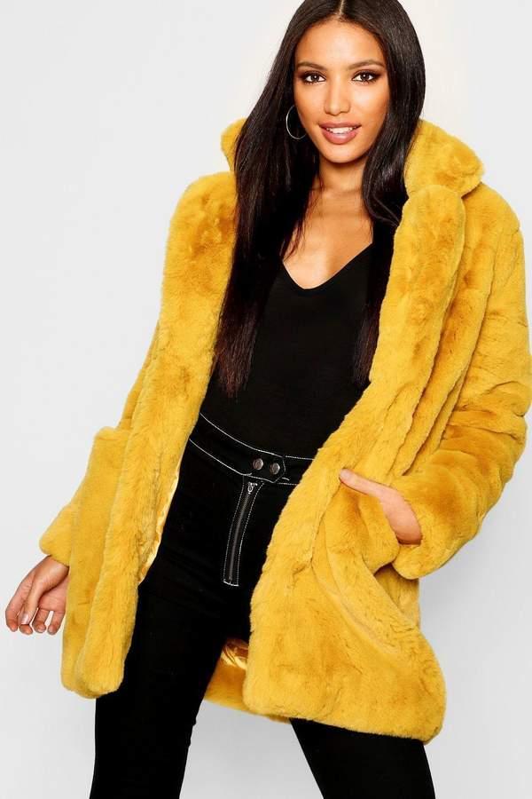 Boutique Faux Fur Coat