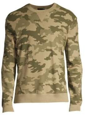 ATM Anthony Thomas Melillo Men's Cotton Camouflage Sweatshirt - Army Combo - Size Small