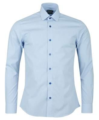 Remus Uomo Check Shirt Colour: SKY, Size: 15
