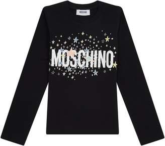 Moschino Star Logo Long Sleeve Top