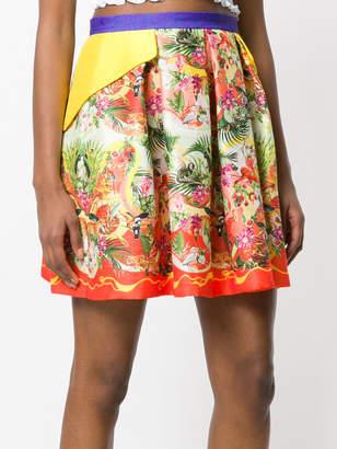 Piccione Piccione Piccione.Piccione tropical print pleated skirt