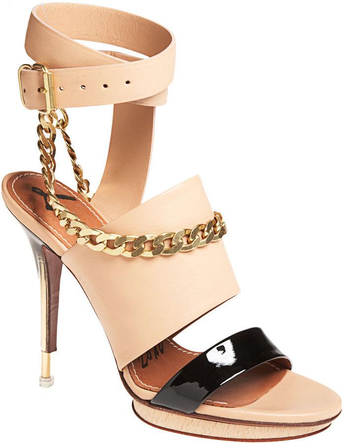 Lanvin Plexi Sandal - Tan