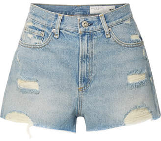 Rag & Bone Maya Distressed Denim Shorts - Light denim