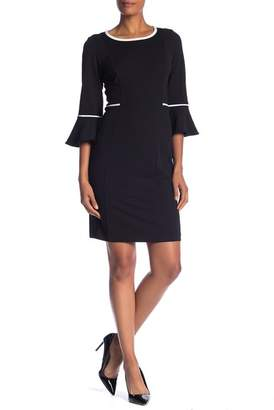 Sandra Darren Bell Sleeve Piped Dress