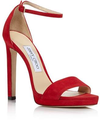 cab0738f0f29 Jimmy Choo Women s Misty 120 Suede High-Heel Platform Sandals