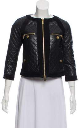 Tory Burch Quilted Leather Jacket w/ Tags